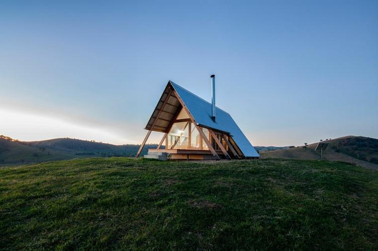 paisaje rural casa pequena