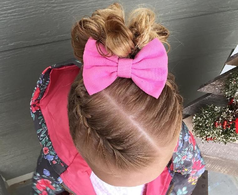peinado-nina-pelo-corto-lazo-rosa-ideas