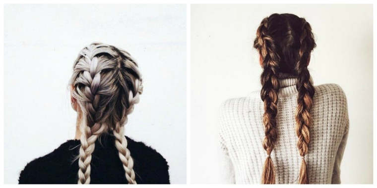 peinados con trenzas-dobles