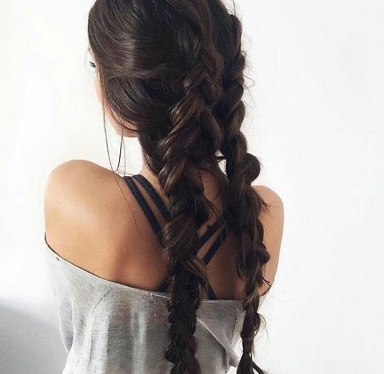 peinados de trenzas-dobles-faciles