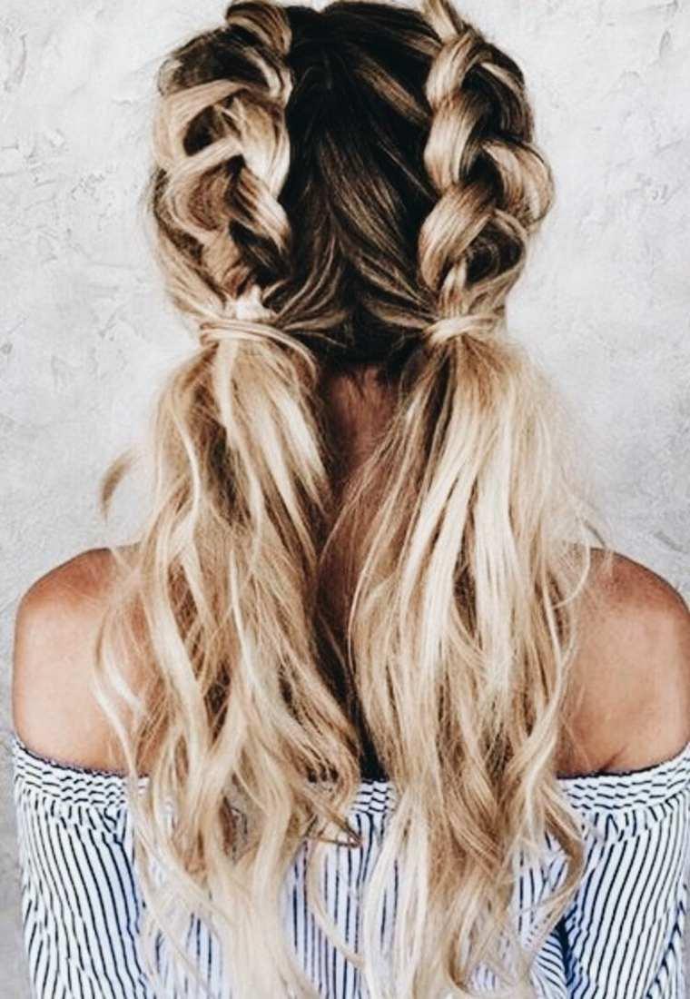peinados de trenzas-faciles-dobles