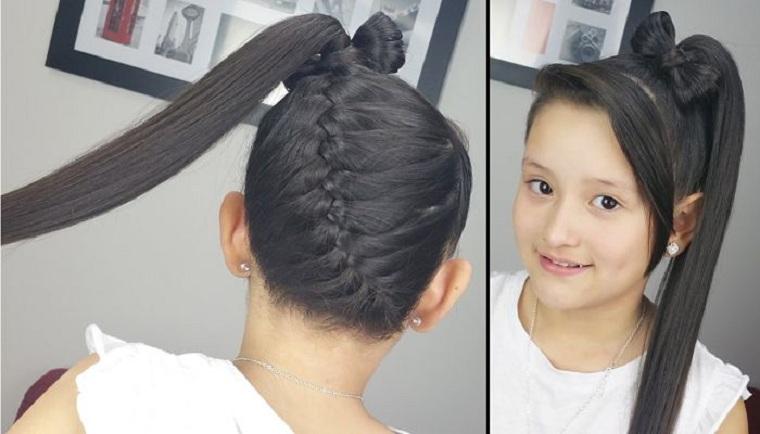 peinados para nina-trenza-cola-nina