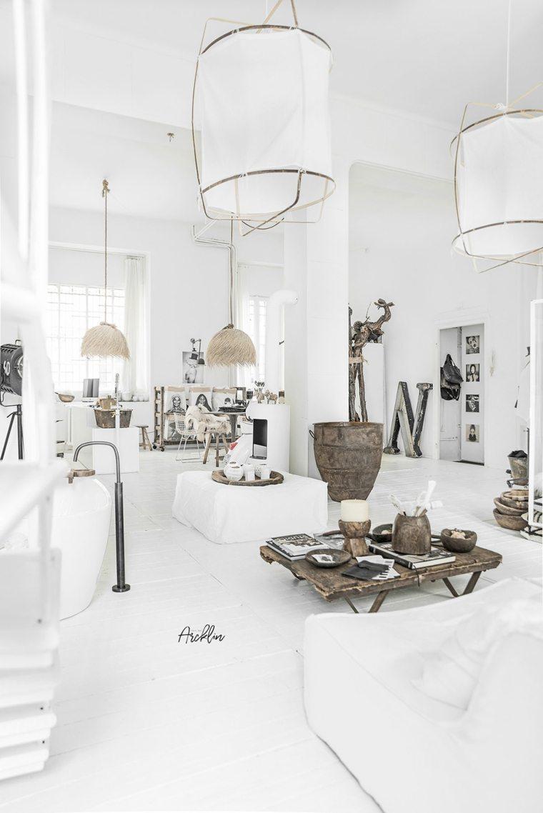 pintura interior blanca paredes suelos