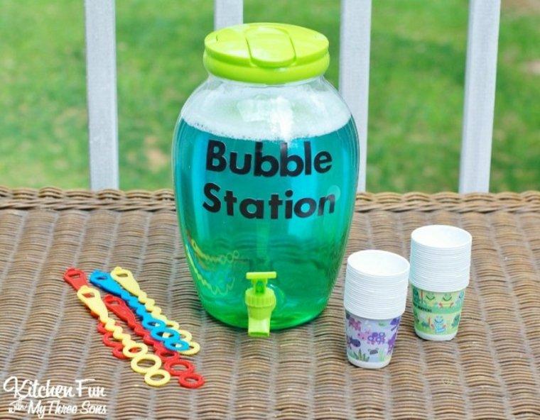 Estación de burbujas de jabón