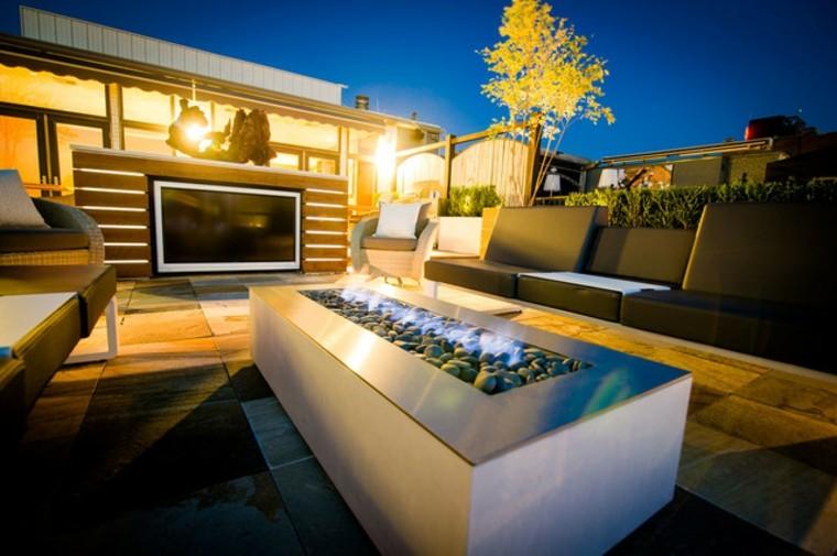 chimeneas modernas para exterior