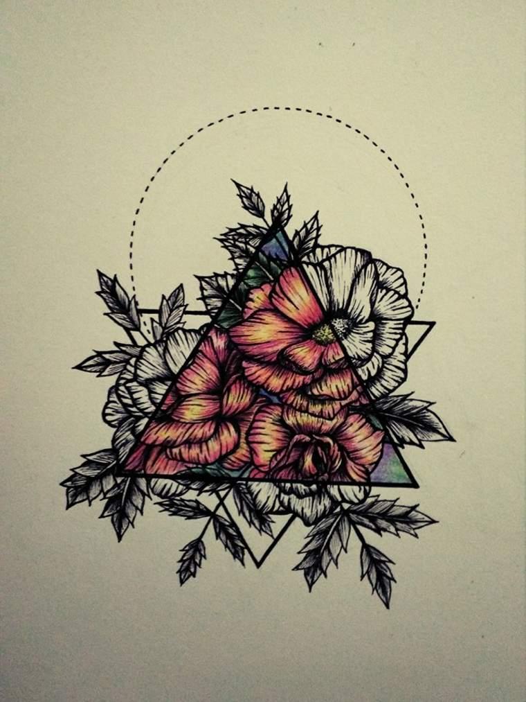 tatuaje de flores renacentistas