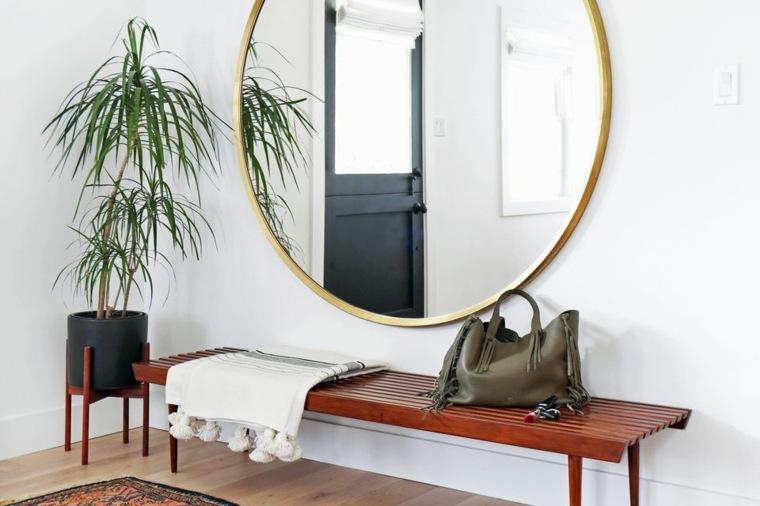 recibidores modernos-blanco-estilo-bohemio