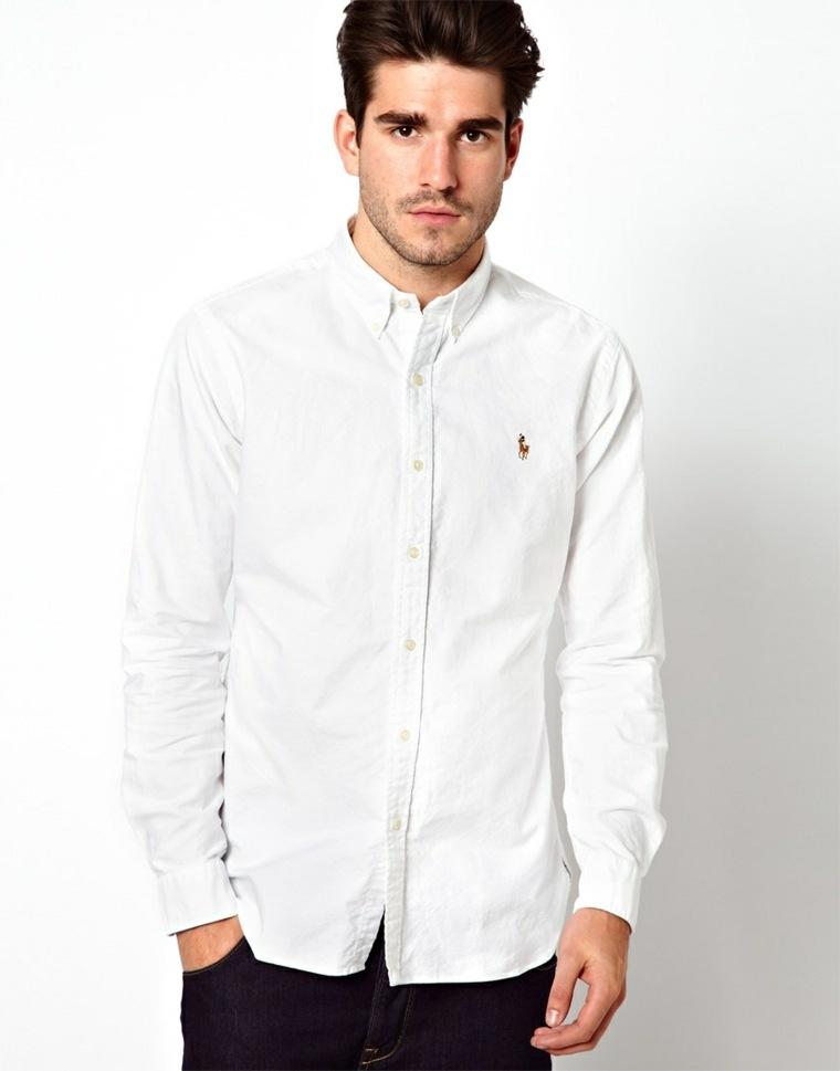 ropa de moda para hombre-camisa-blanca