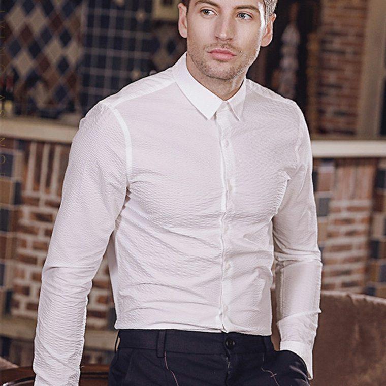 ropa de moda para hombre-camisas-blancas