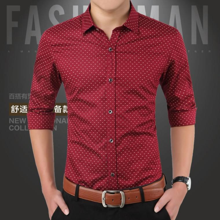 c0cfe1848f68b ropa de moda para hombre-camisas-rojas