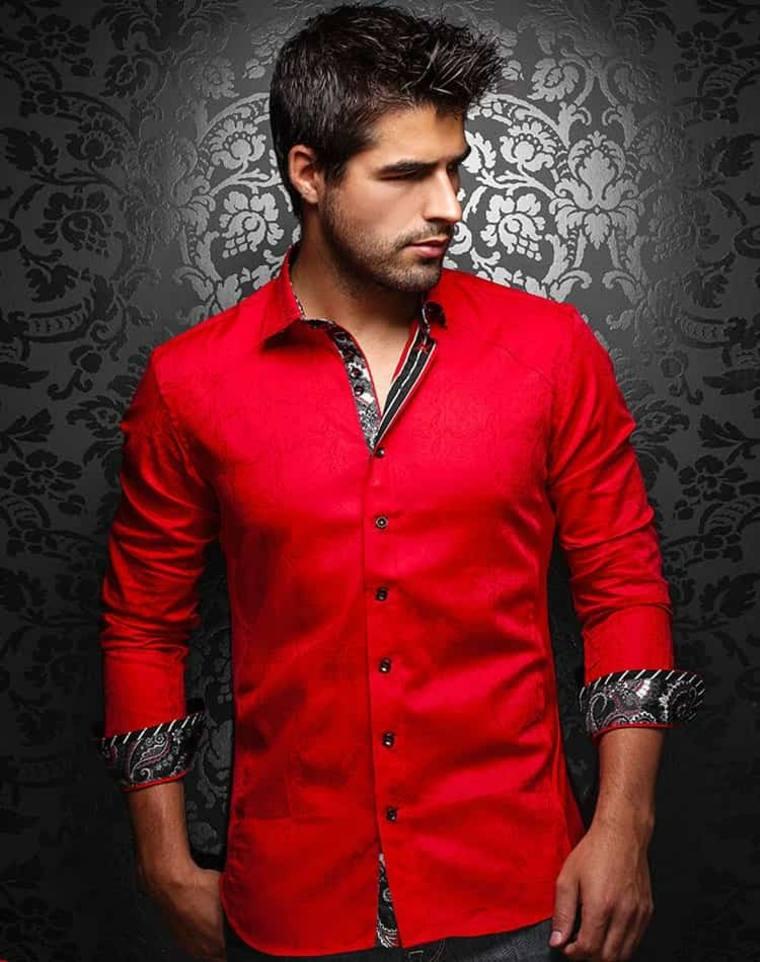 ropa de moda para hombre-rojo