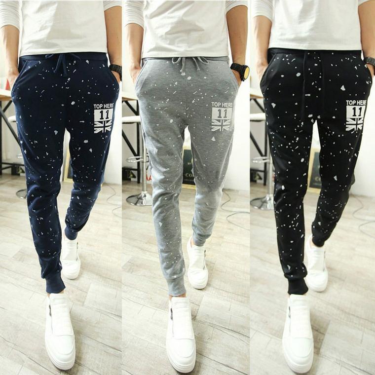 ropa de moda para hombre-slim-pantalon