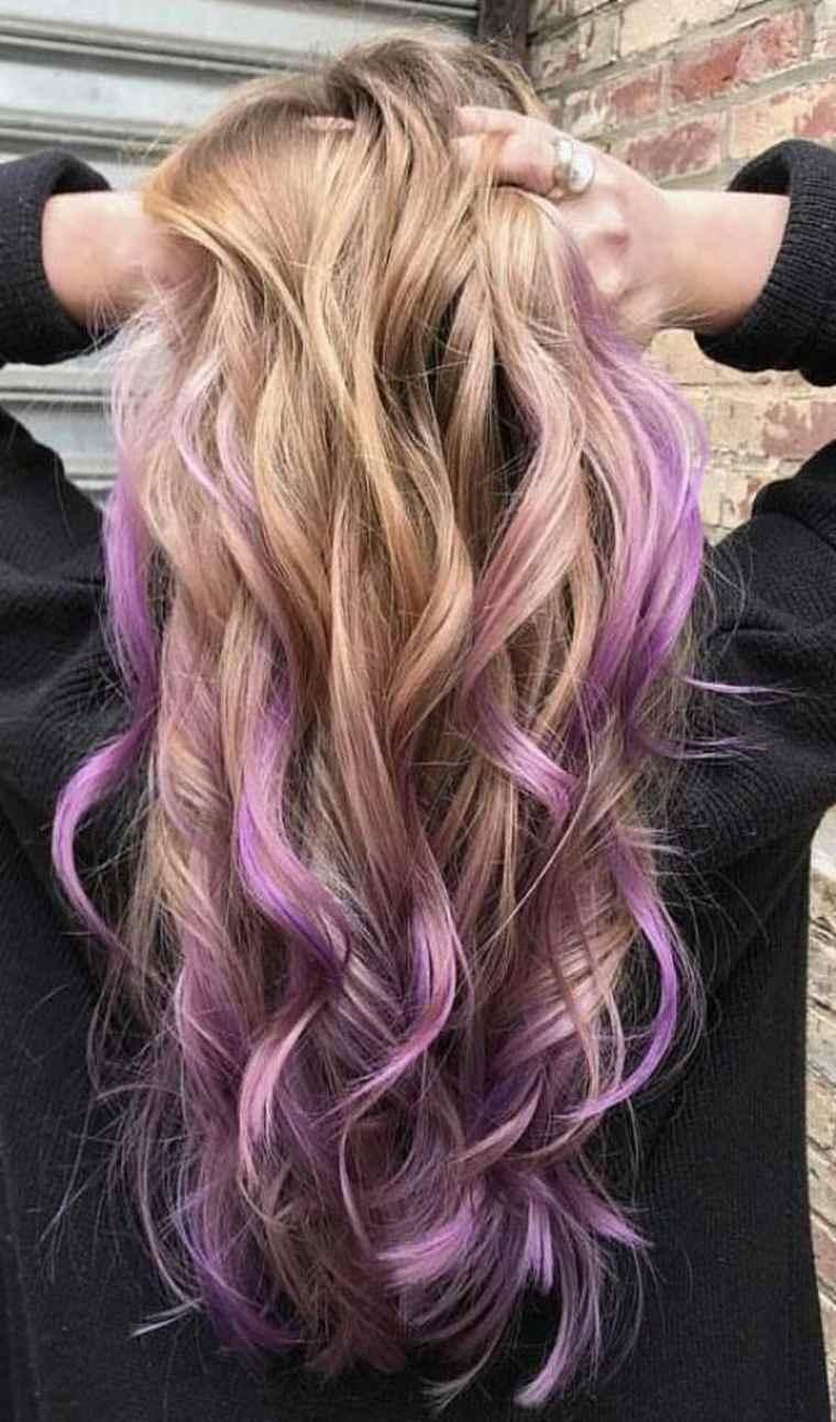 estilo Balayage violeta