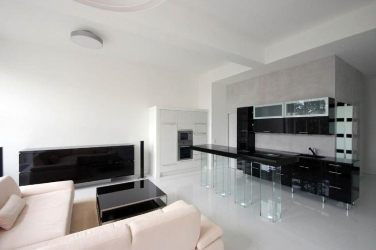 salas minimalistas-elementos-negros