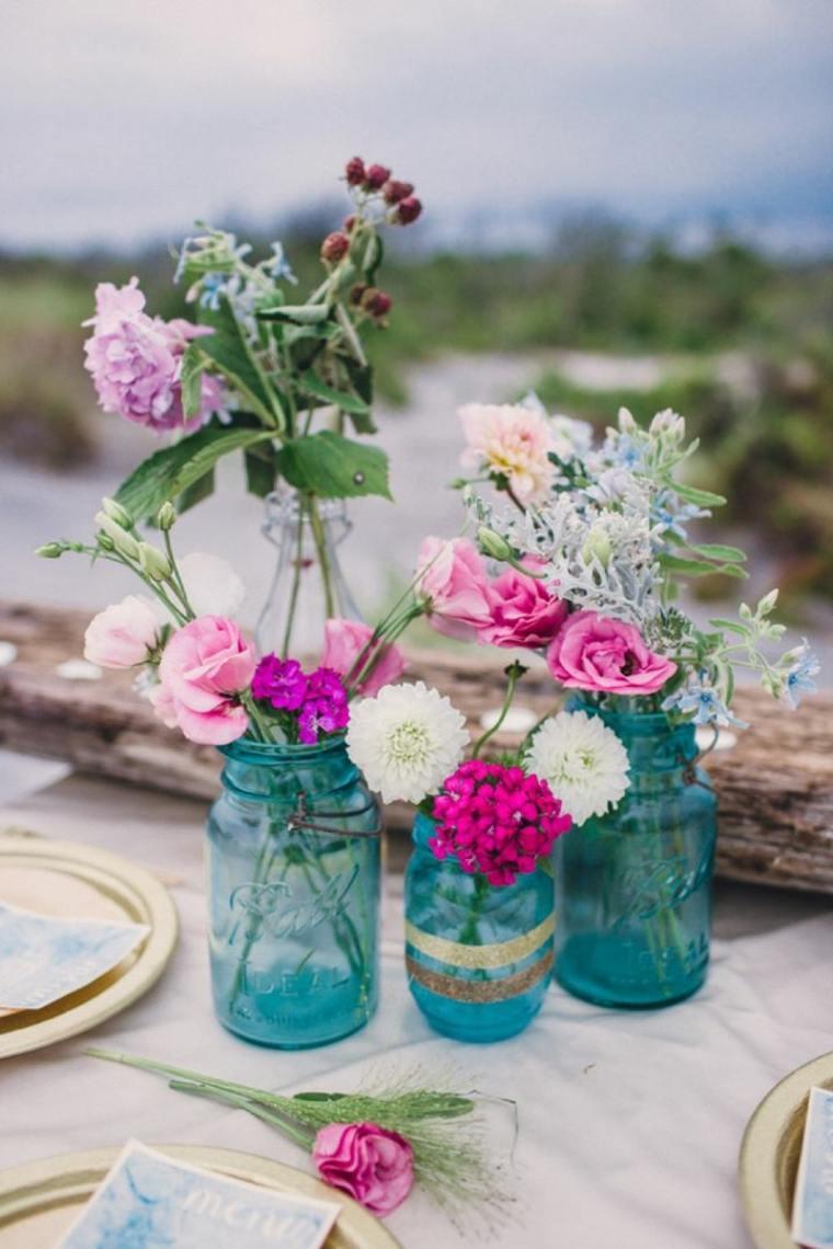 centros florales para bodas estilo boho