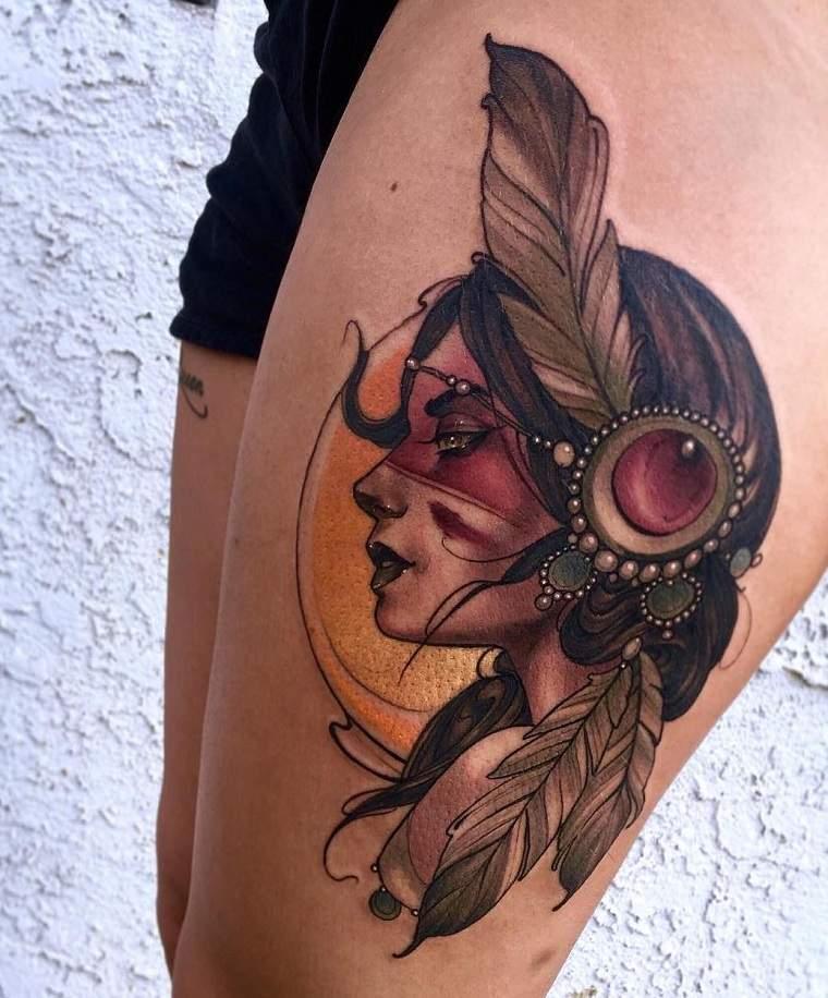 tatuajes elegantes-tendencias-estilo-moderno-neo-tradicional-tattoo