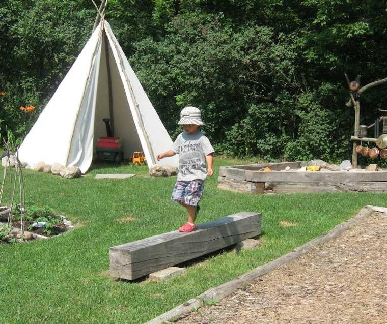 parque infantil Diy en el jardin
