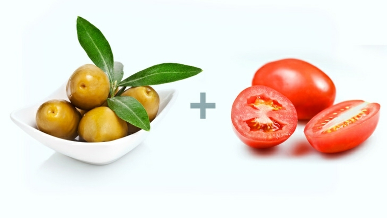 alimentos aceitunas-y-tomates