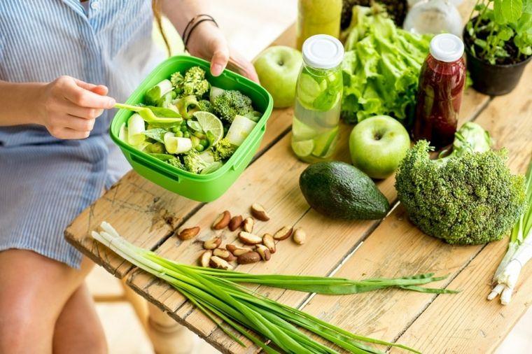 alimentos con fibra enssalada
