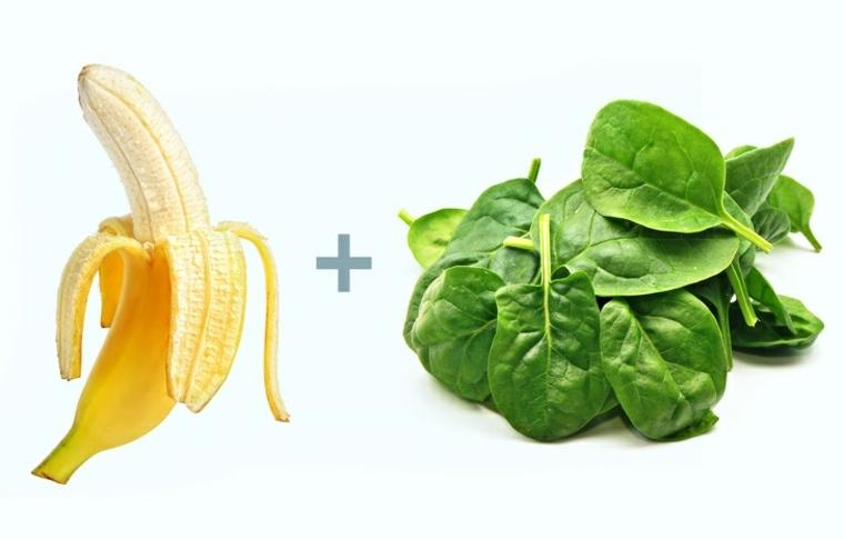 alimentos plátanos-y-espinacas