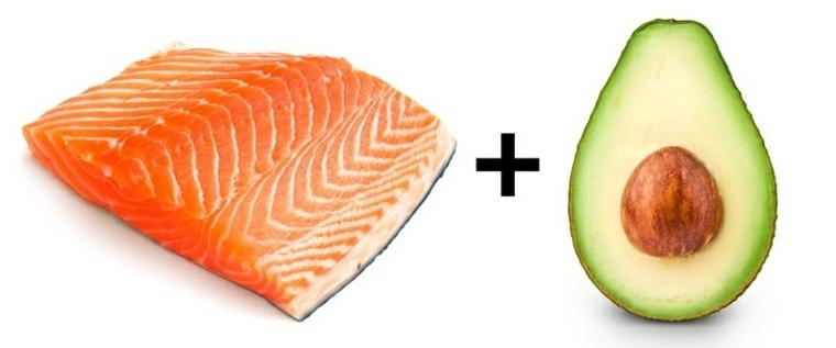alimentos salmón-y-aguacate