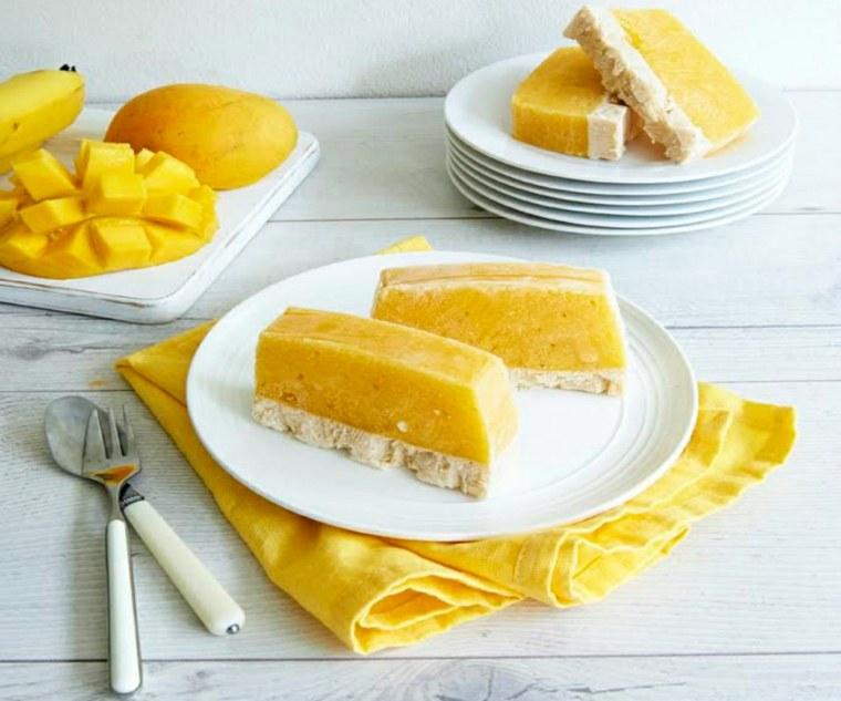 Barras de mango congelado