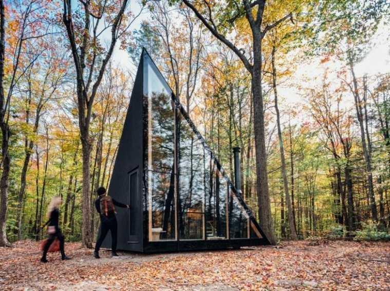 cabaña cristal en-el-bosque