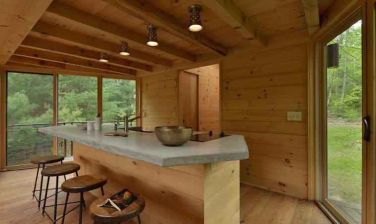 casa en arbol madera paredes