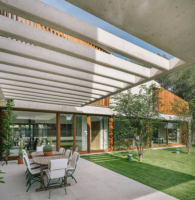 casa moderna diseño jardines minimalistas