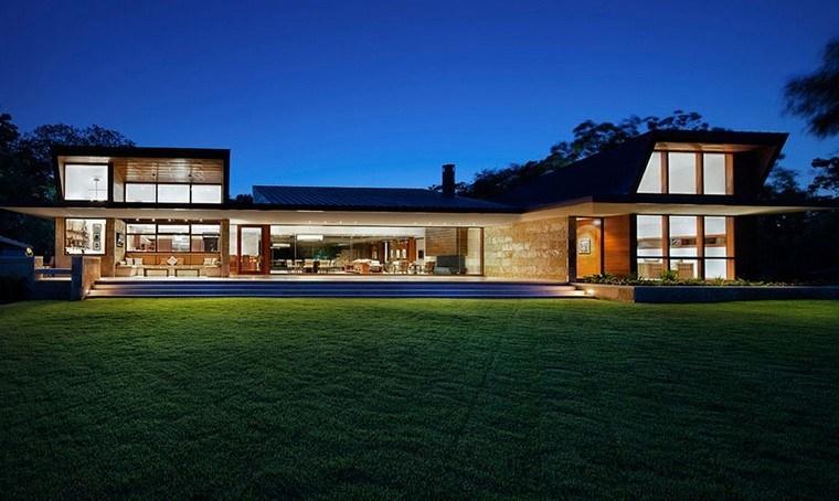 casa modernas fachadas especial acristalada