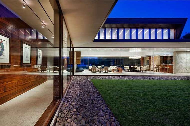 casa modernas fachadas metalicas