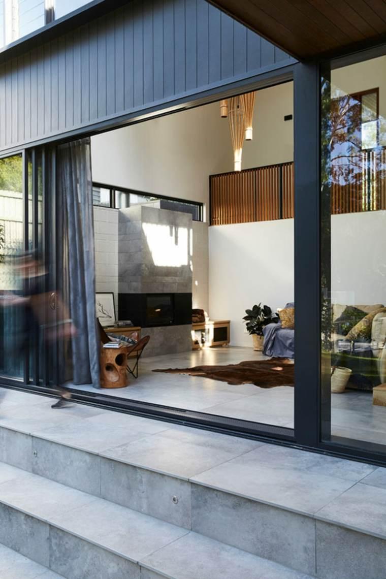 casas modernas suelo-de-piedra