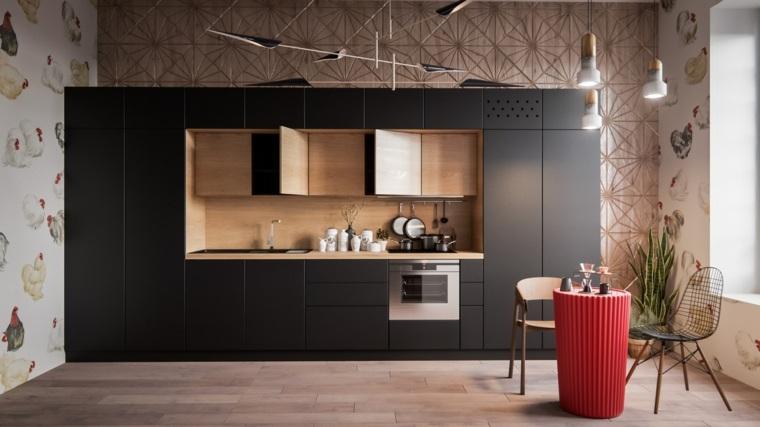 cocina-negra-diseno-moderno-estilo
