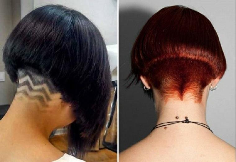 corte bob cuello-afeitado