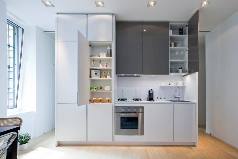 decoracion-para-cocinas-ideas-atractivas-blanco-gris