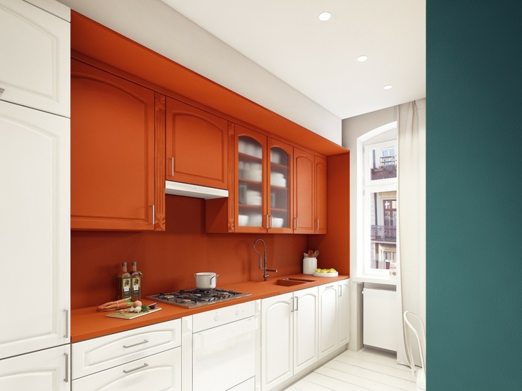 decoracion-para-cocinas-ideas-atractivas-colores-blanco-naranja