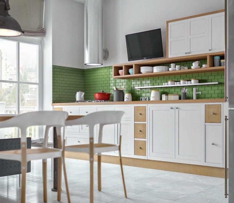 decoración para cocinas-ideas-atractivas-colores-verde