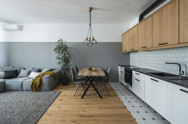 decoración para cocinas-ideas-atractivas-una-pared-espacio-diseno-abierto