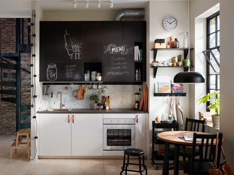 decoracion-para-cocinas-ideas-blanco-negro