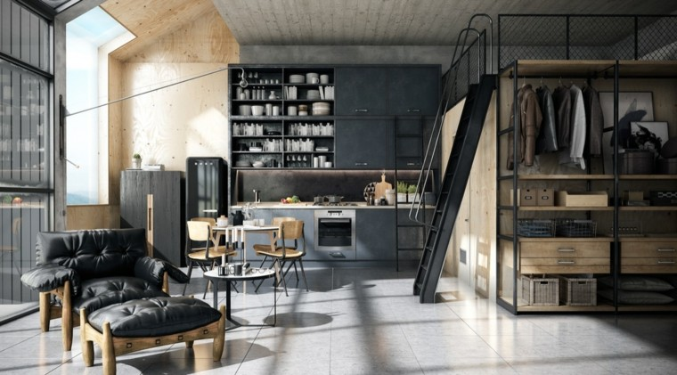 decoracion-para-cocinas-ideas-estilo-industrial