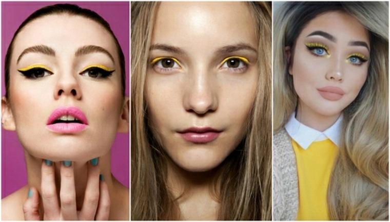 maquillaje de ojos amarillo