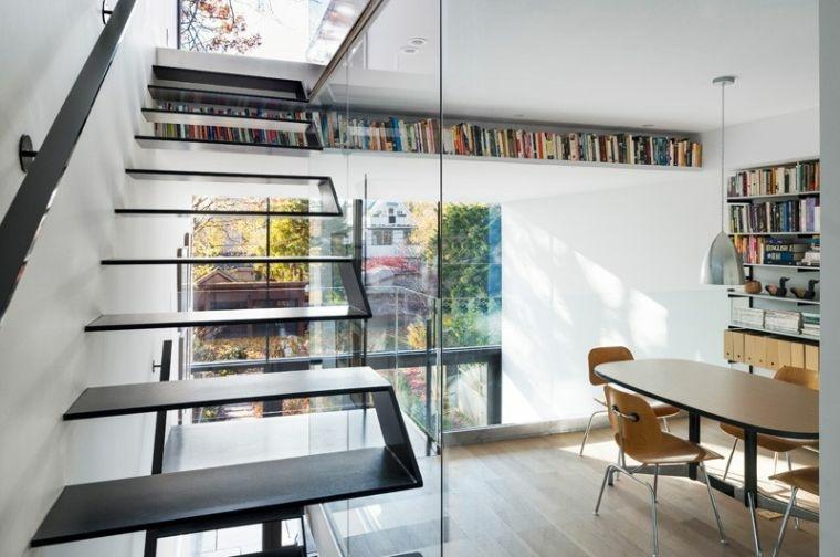 diseno de escaleras-interiores-elementos-negros