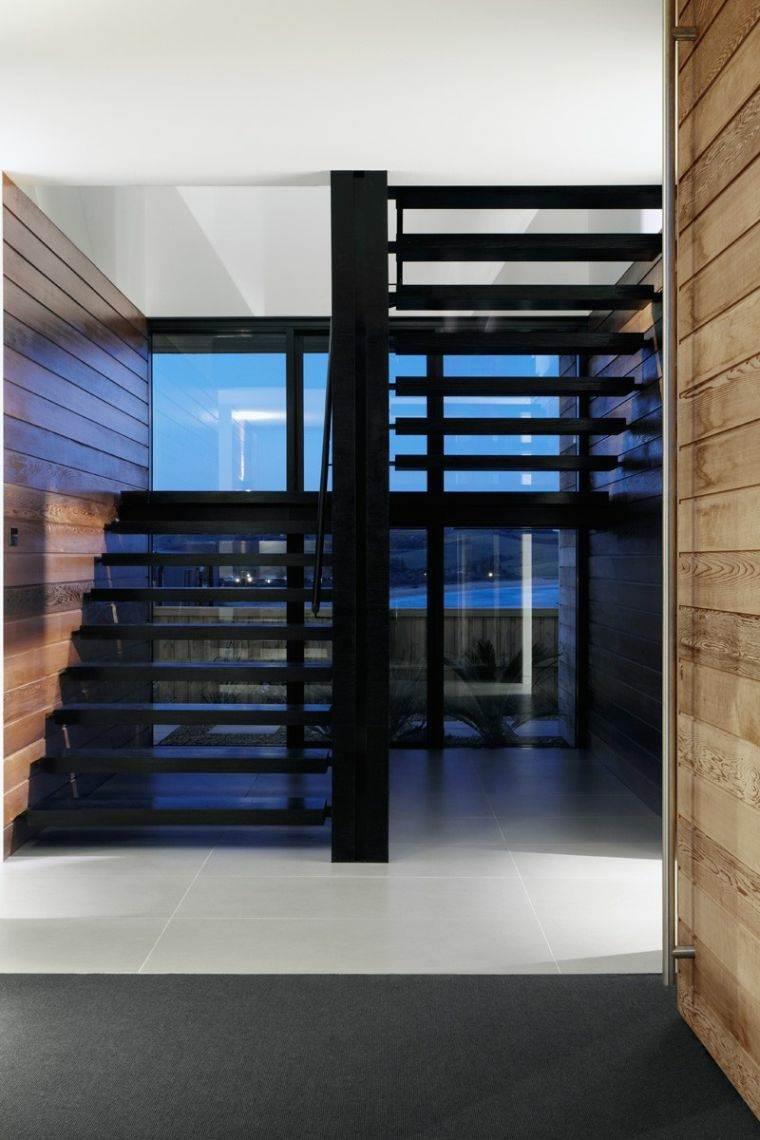 escaleras de madera-metal-interiores