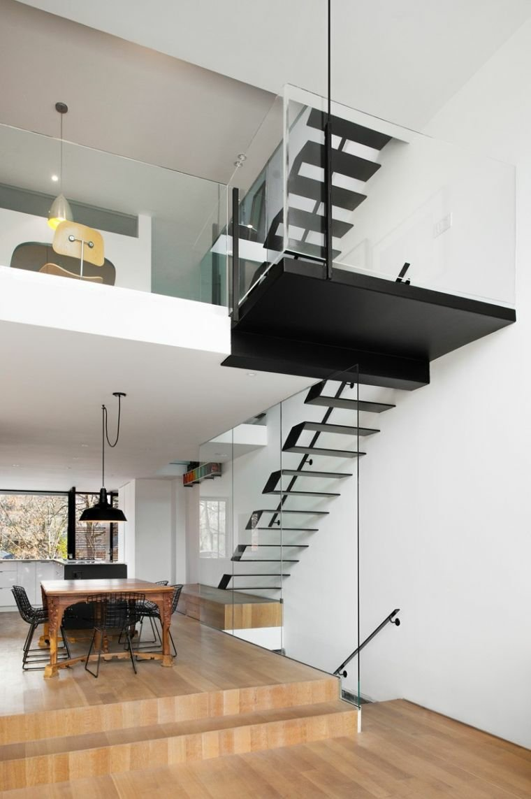 escaleras de madera para interiores-modernos
