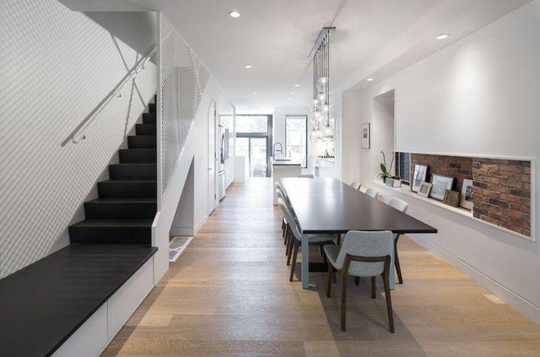 escaleras interiores-modernas-elementos-negros
