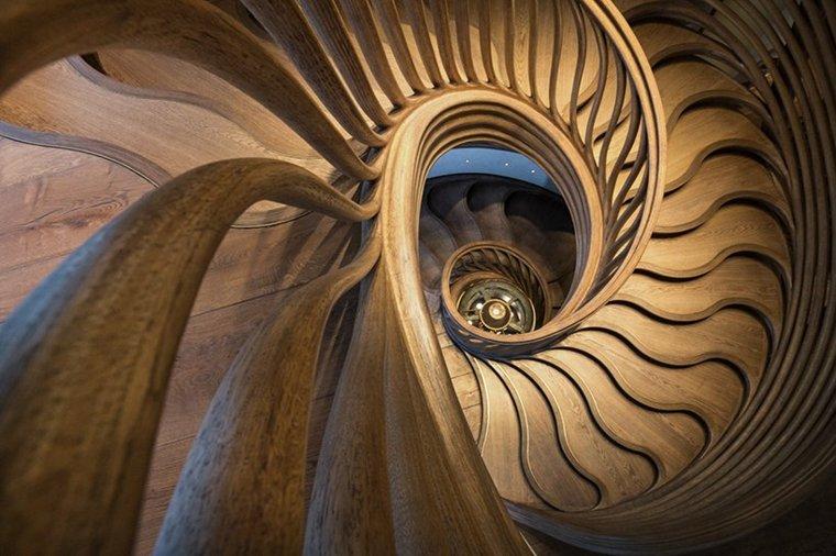 escaleras interiores suelos detallados