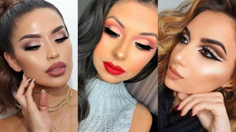 Maquillaje de moda de estilo elegante