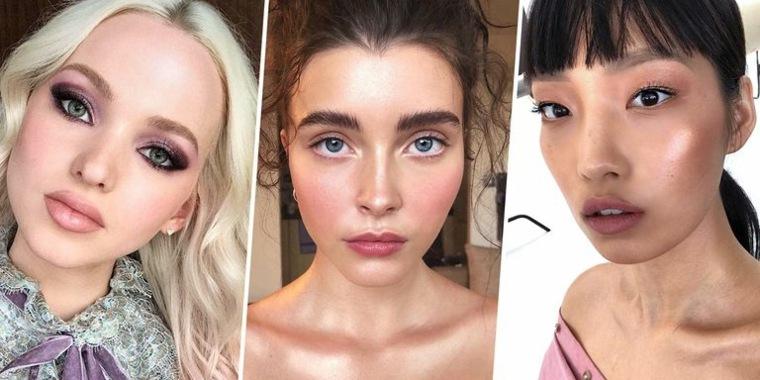 Maquillaje de moda natural