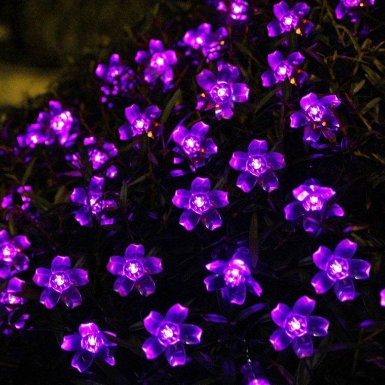 luces de flores