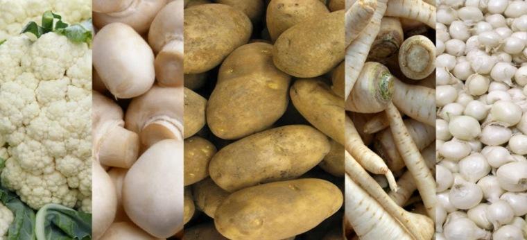 frutas y verduras blancas-y-beige